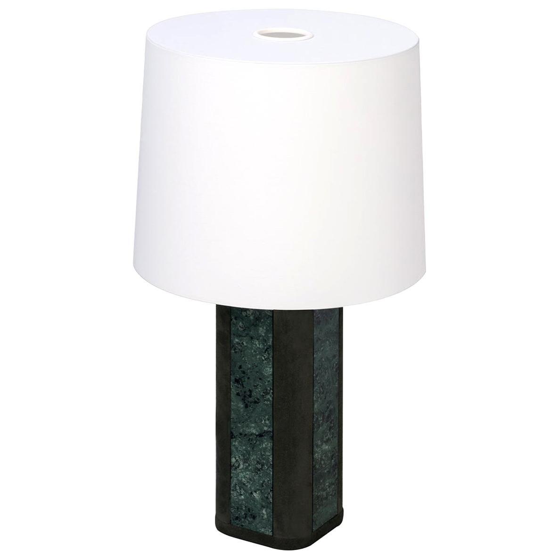 Solferino Small Green Guatemala Marble Table Lamp