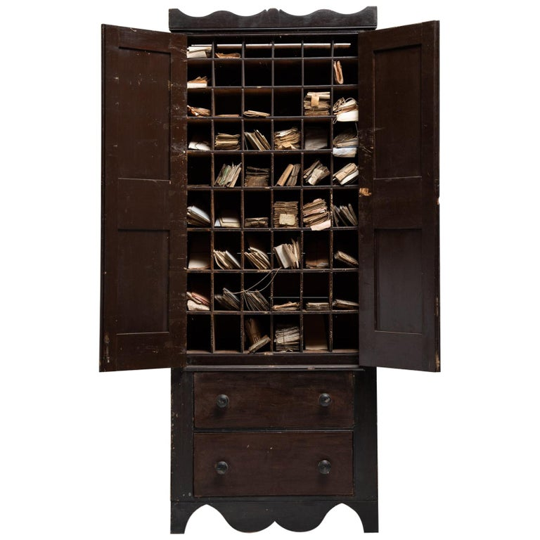 Solicitors Cabinet, England, 19th Century For Sale