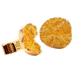 Solid 14 Karat Gold Lapponia Bjorn Weckstrom Designer Gold Cufflinks 16.2G