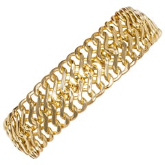 Solid 18 Carats Yellow Gold Double Row Chain 20.59 Grams
