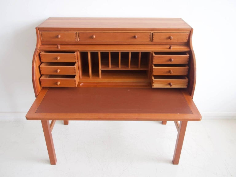 Danish Solid American Cherrywood Writing Desk by Andreas Hansen For Sale