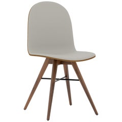Solid American Walnut Contemporary Chair by Alexandre Caldas