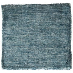 Solid Aqua Blue Rug, Soft Feel, Subtle Sheen, Tonal Blue Color, Cut Pile