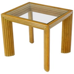 Solid Blond Birch Rectangular Occasional Side Table Stand