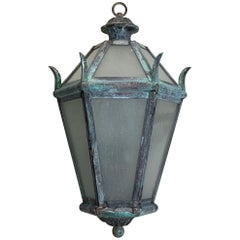 Solid Brass and Bronze Hanging Lantern