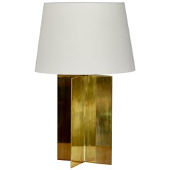 Solid Brass and Parchment Table Lamp