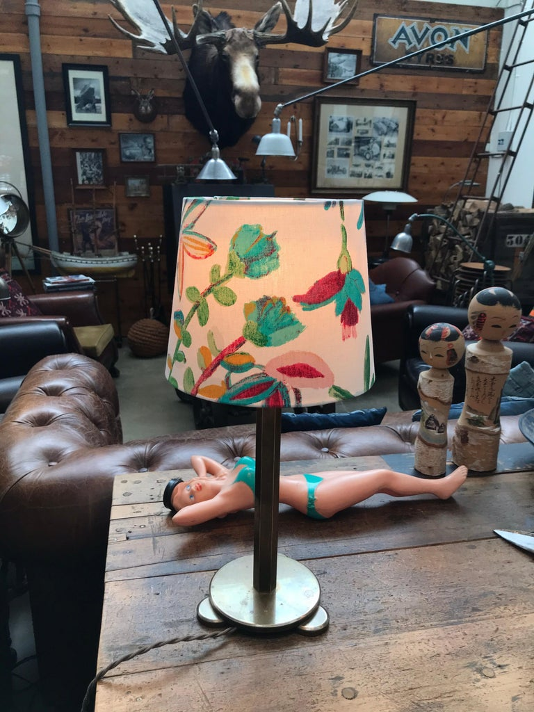 Solid Brass Art Deco Table Lamp from the 1920s For Sale 4