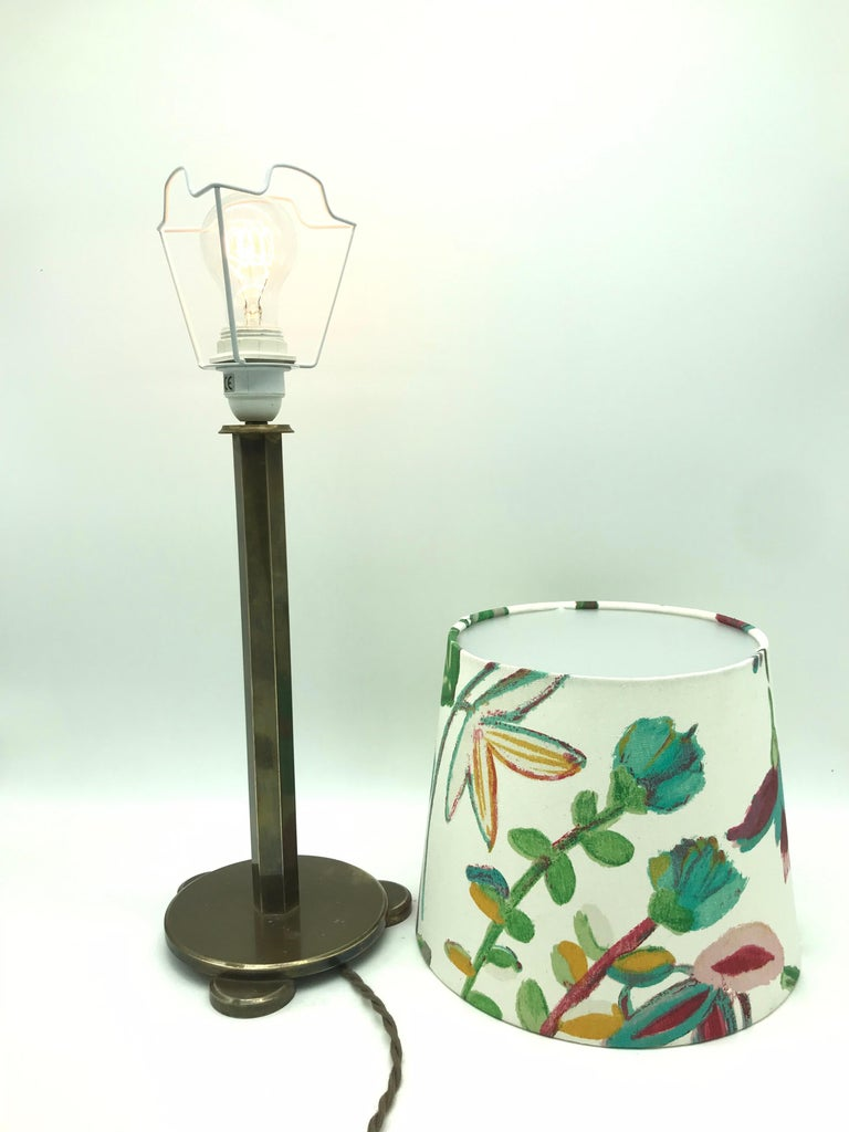 Solid Brass Art Deco Table Lamp from the 1920s For Sale 2
