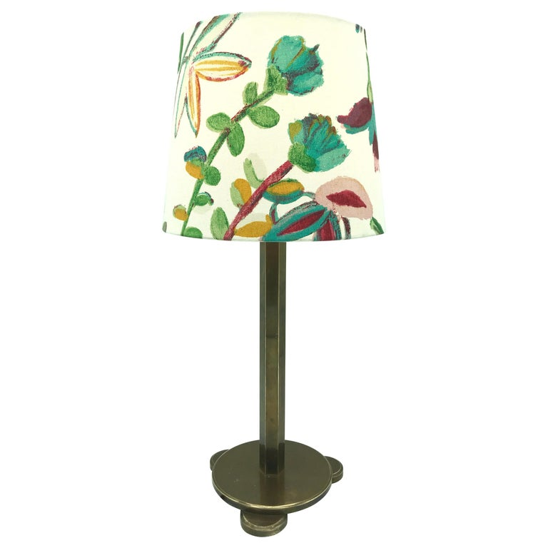 Solid Brass Art Deco Table Lamp from the 1920s For Sale