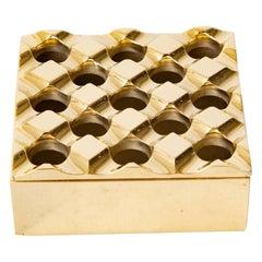 Solid Brass Ashtray or Desk Accessory by Backstrom Holger & Bo Ljungberg Sweden