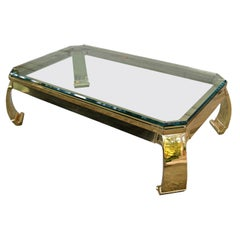 Solid Brass Coffee Table attr. Karl Springer