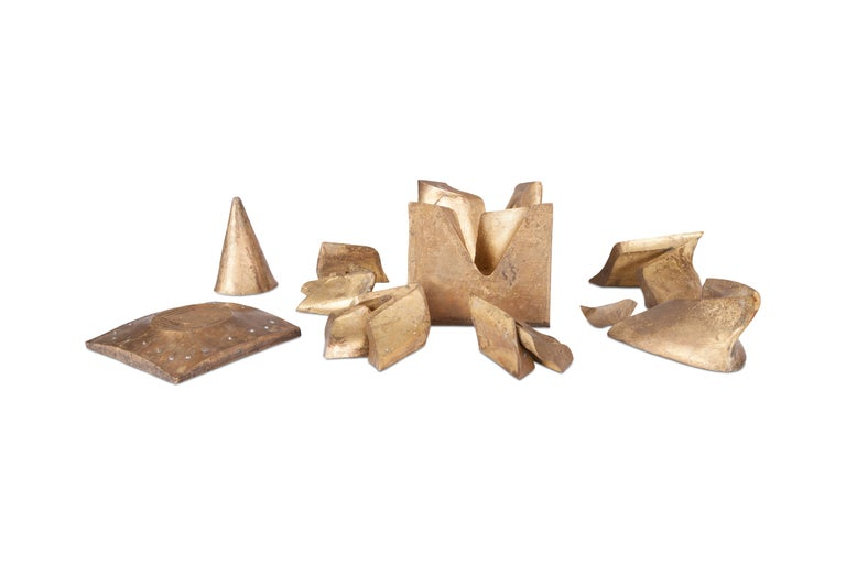 Solid Brass Cube Shaped Puzzle / Artwork For Sale 4