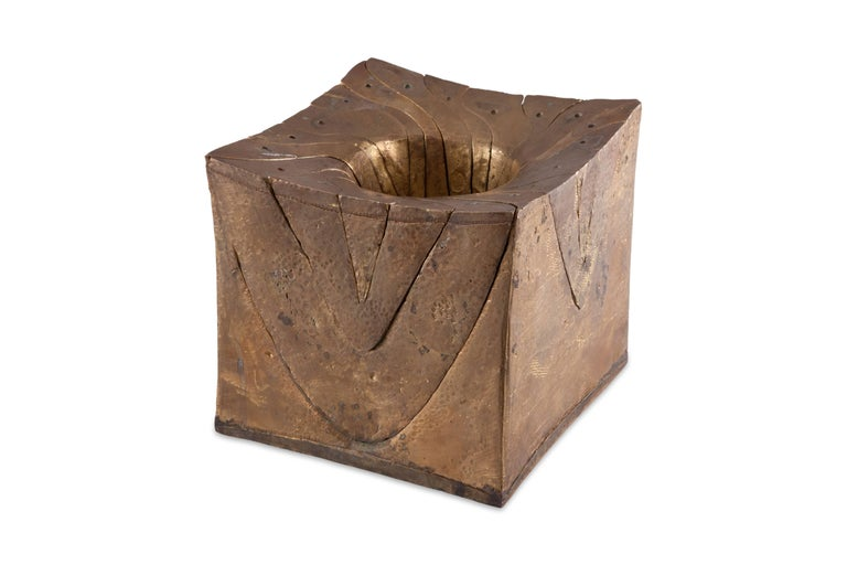 Mid-Century Modern Solid Brass Cube Shaped Puzzle / Artwork For Sale