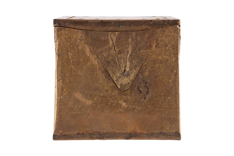European Solid Brass Cube Shaped Puzzle / Artwork For Sale