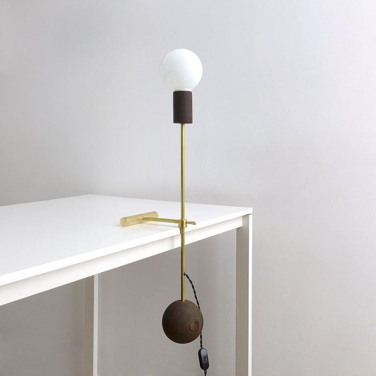 Modern Solid Brass Desk Lamp by Olek Vojtek For Sale
