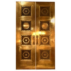 Solid Brass Double Doors