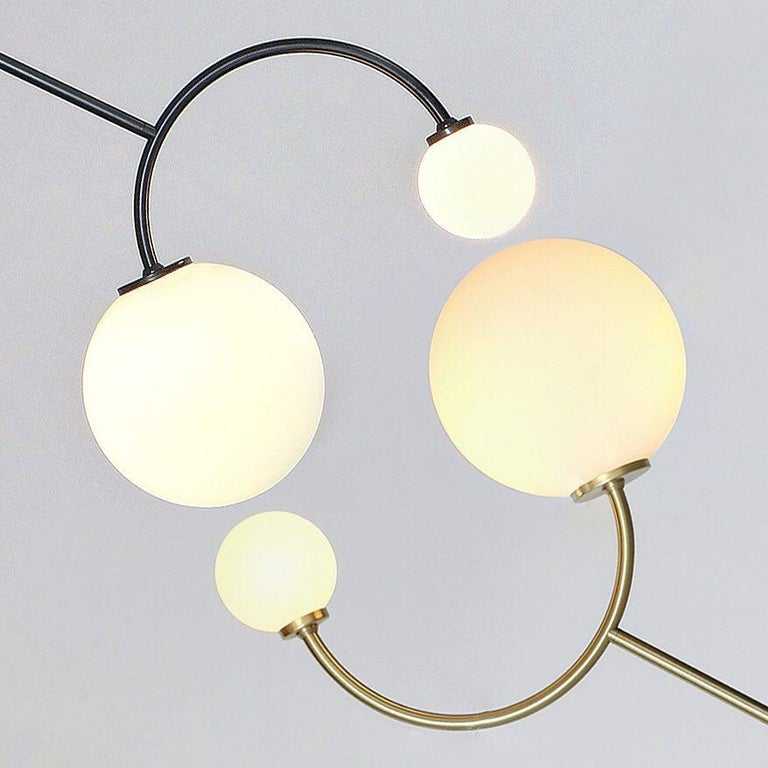 Modern Solid Brass Equilibrium Pendant Lamp by Olek Vojtek For Sale