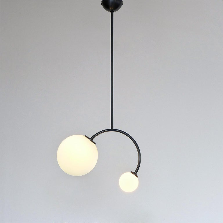 Polish Solid Brass Equilibrium Pendant Lamp by Olek Vojtek For Sale