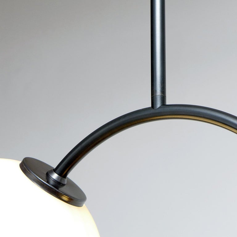 Contemporary Solid Brass Equilibrium Pendant Lamp by Olek Vojtek For Sale