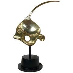 Solid Brass Fish Sculpture