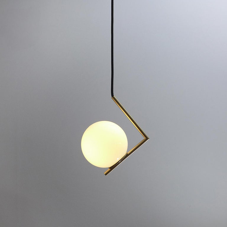 Polish Solid Brass Geometric Pendant Lamp by Olek Vojtek For Sale