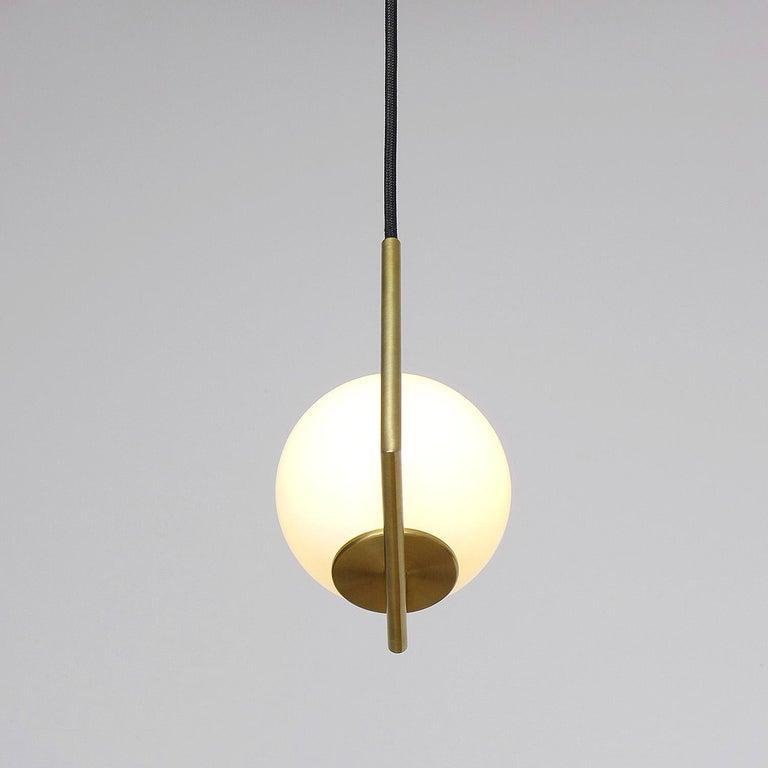 Contemporary Solid Brass Geometric Pendant Lamp by Olek Vojtek For Sale