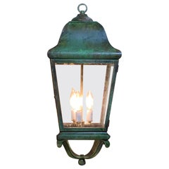 Solid Brass Hand Crafted Hanging Lantern