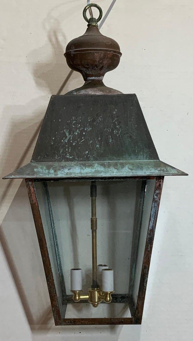Solid Brass Hanging Lantern For Sale 5
