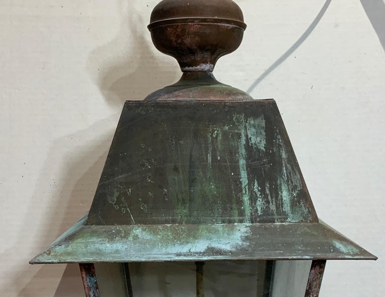 Solid Brass Hanging Lantern For Sale 1