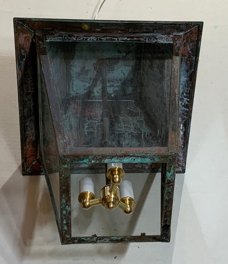 Solid Brass Hanging Lantern For Sale 3