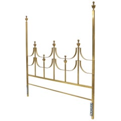 Solid Brass Mastercraft King Size Tall Headboard Bed