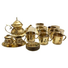 Solid Brass Nautical Anchor Tea & Coffee Service for 6, France