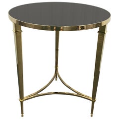 Solid Brass Neoclassical Style Side Table