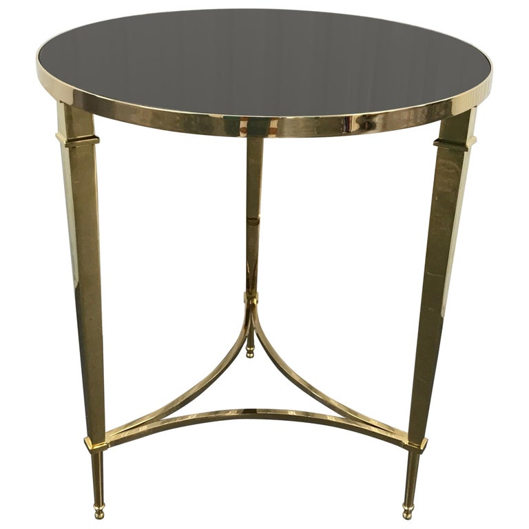 Solid Brass Neoclassical Style Side Table For Sale