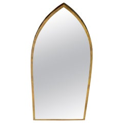 Solid Brass Profile Dome Shield Shape Curved Wall Mirror