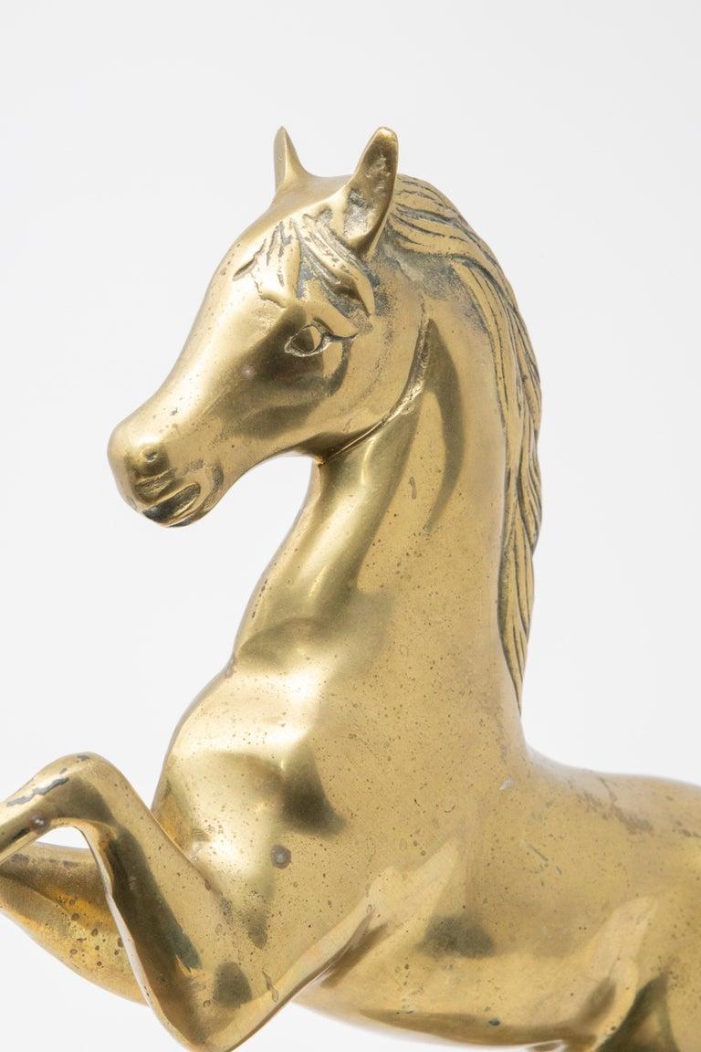 Solid Brass Raring Horse Figure 1