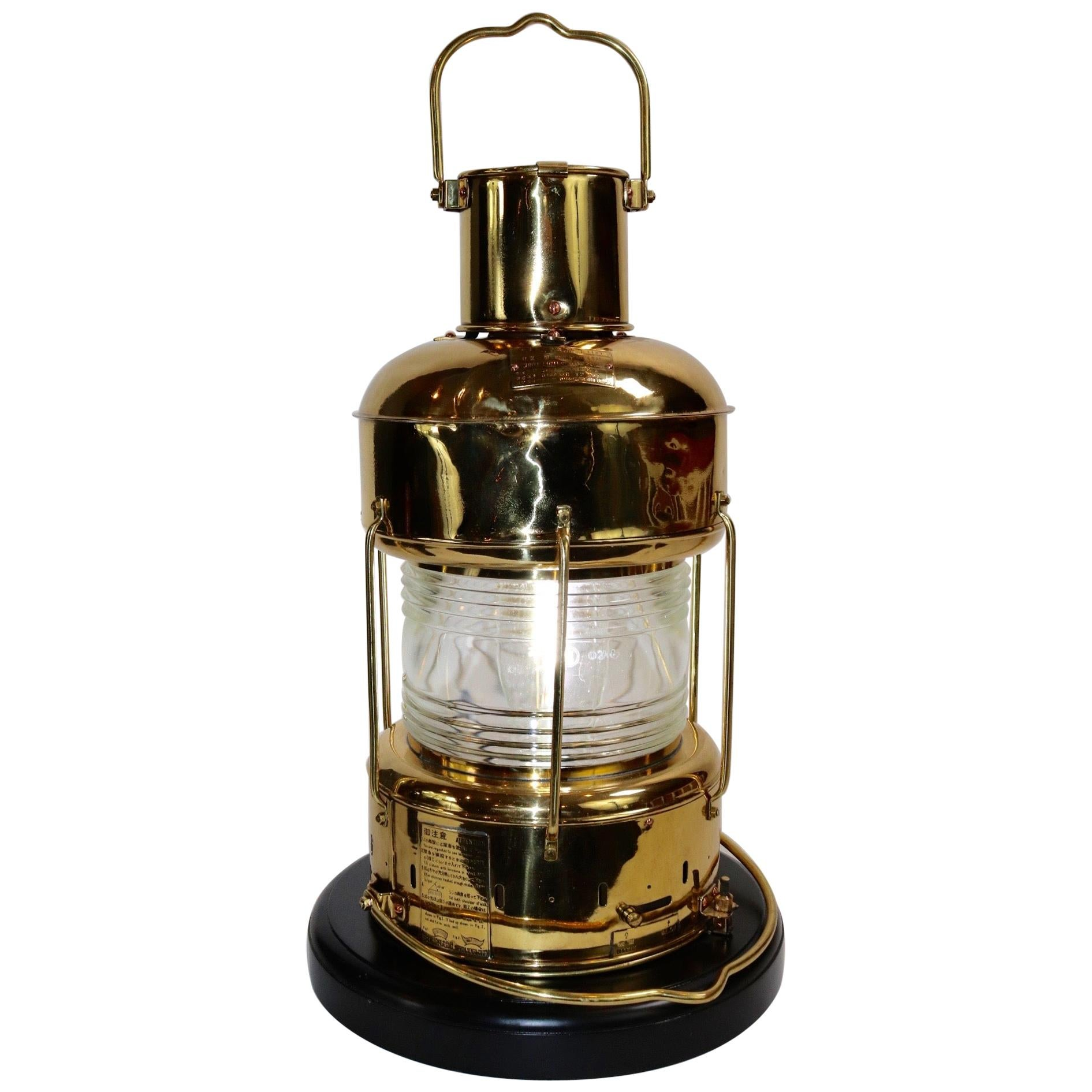 Solid Brass Ships Anchor Lantern