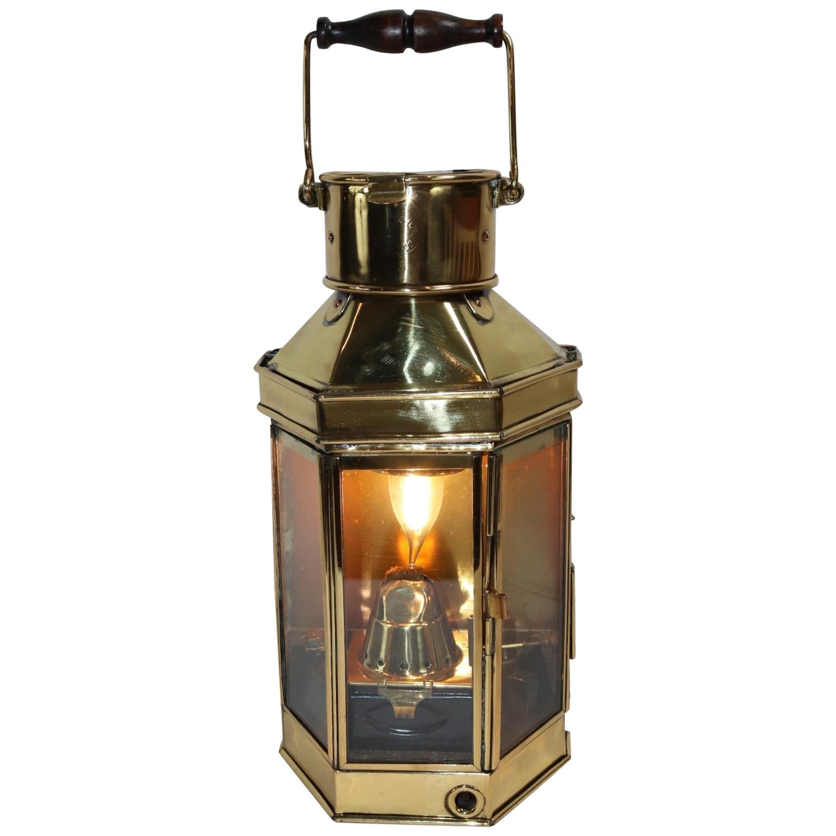 Solid Brass Ships Cabin Lantern by English Maker