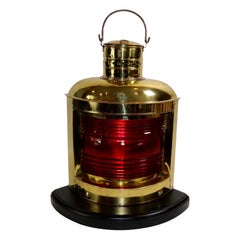 Solid Brass Ships Port Lantern
