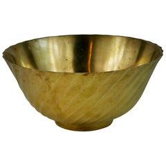 Solid Brass Spiral Vase