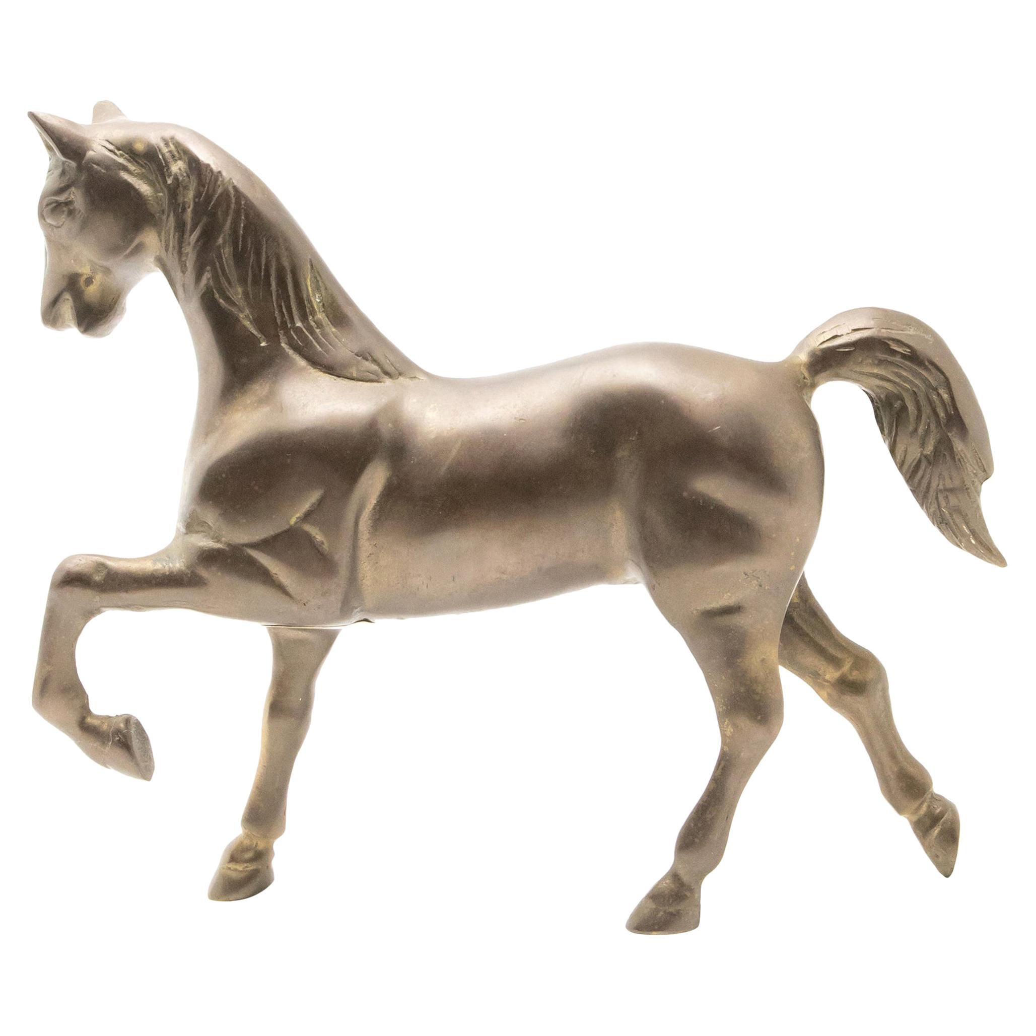 Solid Brass Standing Horse Figure