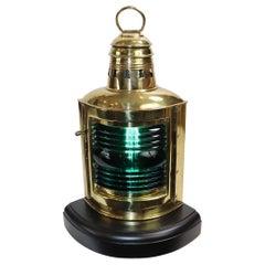 Solid Brass Starboard Boat Lantern