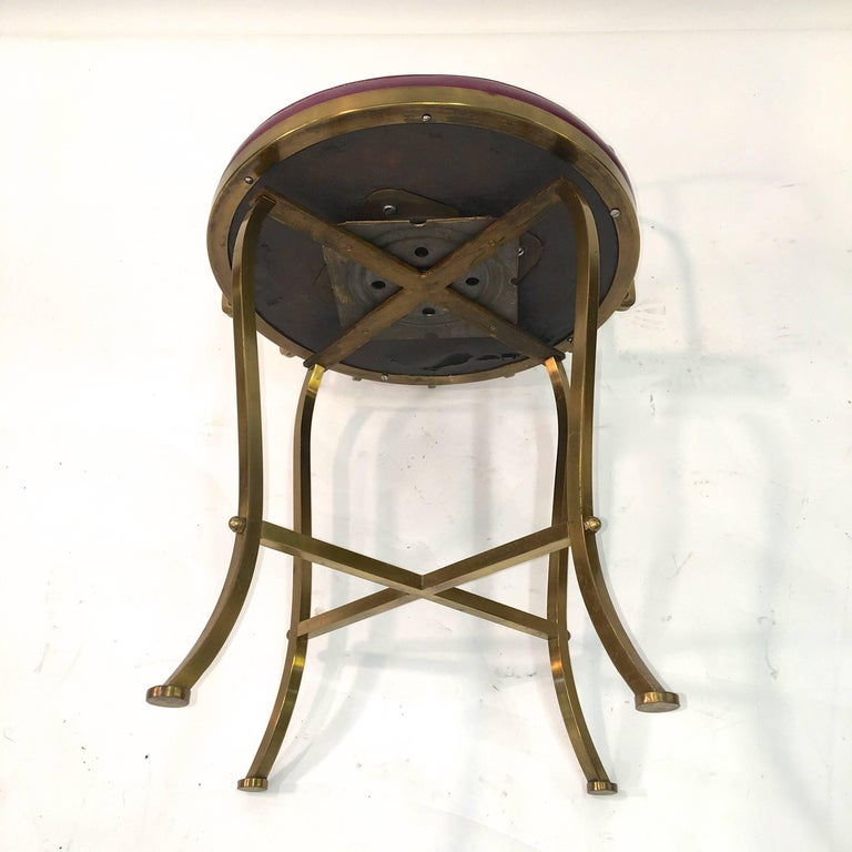 Solid Brass Swivel Vanity Chair For Sale At 1stdibs