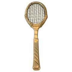 Solid Brass Tennis Racket Paper Weight