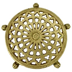 Victorian Solid Brass Trivet with Lion's Paw Feet