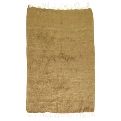 Solid Brown Turkish Mohair Rug
