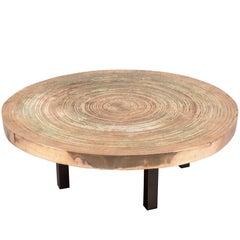 """Solid Cast Bronze """"Goutte d'eau"""" Table by Ado Chale, Belgium, 1970s"""