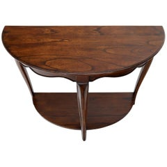 Solid Cherry Demilune Console Table by Baker