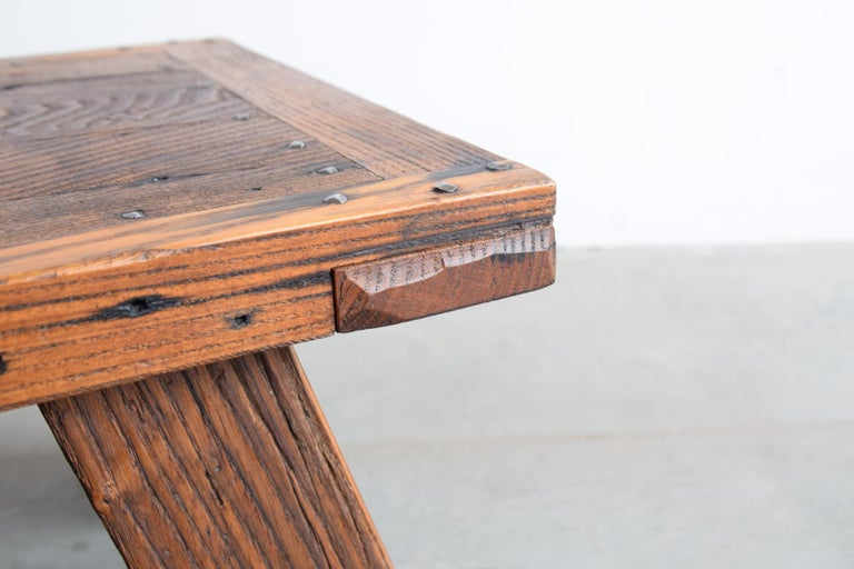 Solid Chestnut Coffee Table or Bench 4