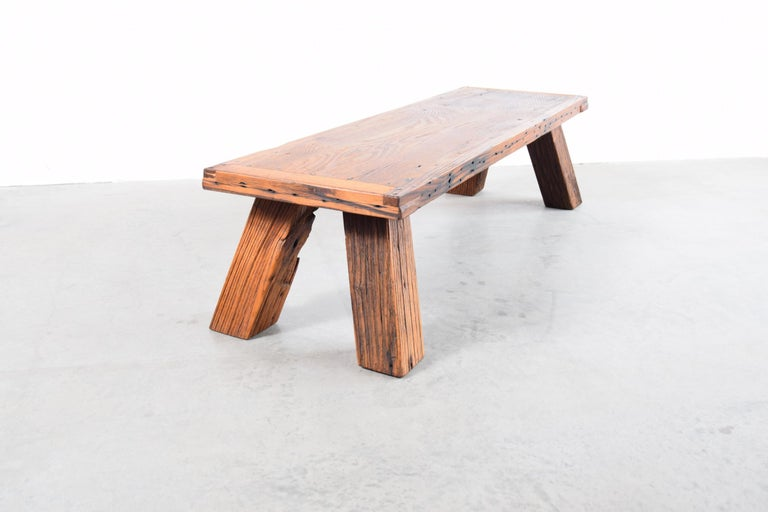Rustic Solid Chestnut Coffee Table or Bench